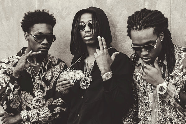 Migos Black and White Poster