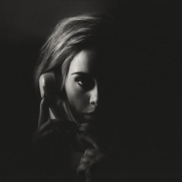 Adele Hello Black and White Poster