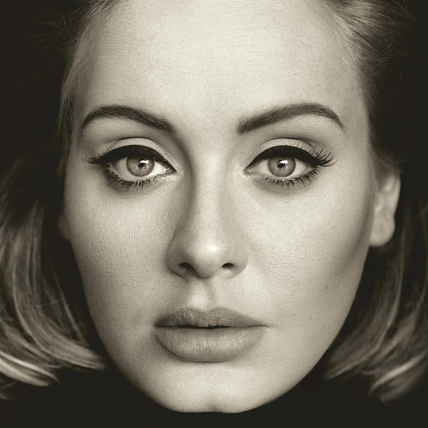 Face Adele Black and White Poster