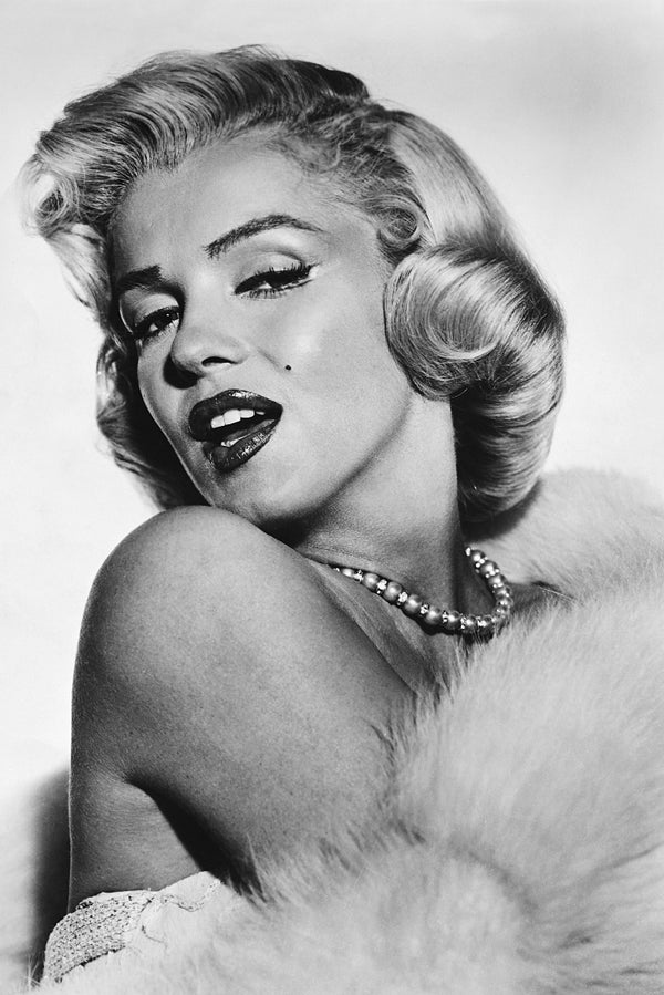 Hot Marilyn Monroe in White Fur Poster