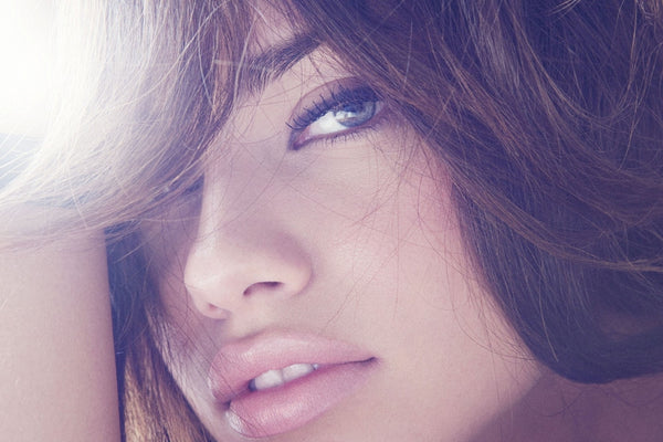 Adriana Lima Face Lips Poster
