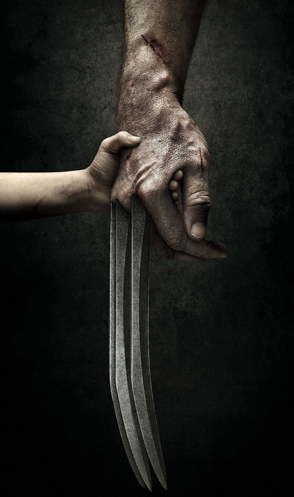 Logan and Baby Wolverine Xmen Poster