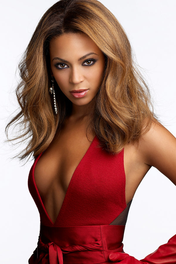 Beyonce in Red Dress Poster