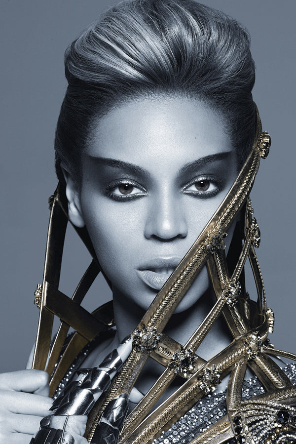 Beyonce Black and White Poster