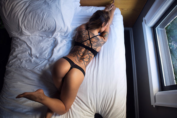 Girl Tattoo on the Back Poster