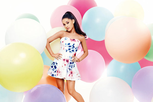 Ariana Grande and Balloons Poster