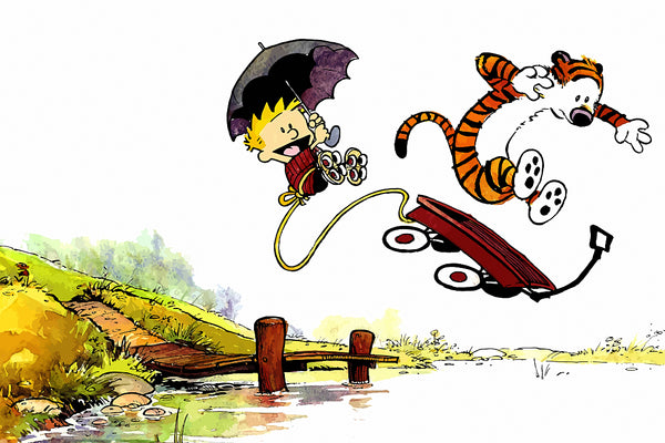 Calvin and Hobbes River Poster