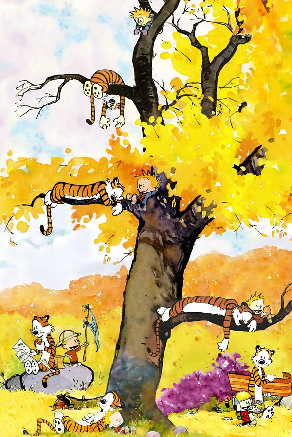 Calvin and Hobbes Mix Poster