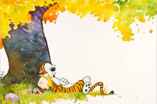 Calvin and Hobbes Tree Poster