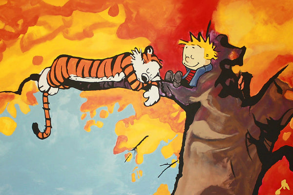Calvin and Hobbes Tree Sleep Poster