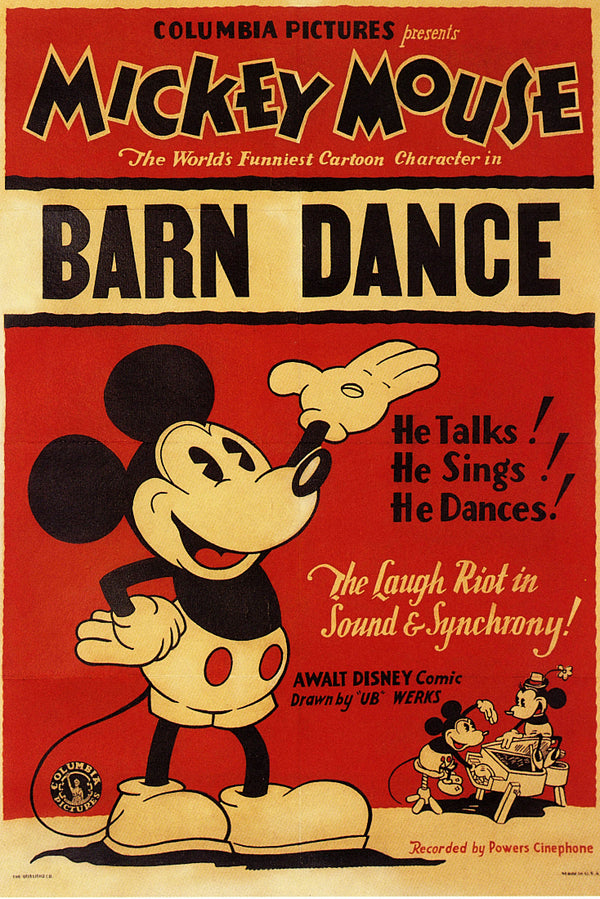 Mickey Mouse Barn Dance Poster