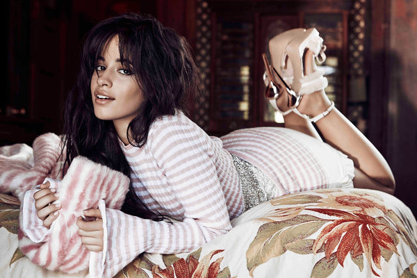 Camila Cabello on the Bed Poster