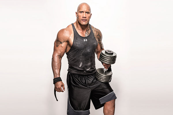Dwayne Johnson The Rock Weights Workout Poster