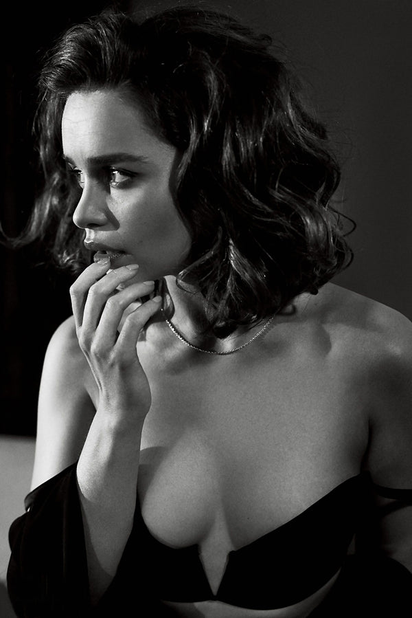 Emilia Clarke Hot Black and White Poster