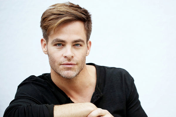 Chris Pine Actor Face Poster