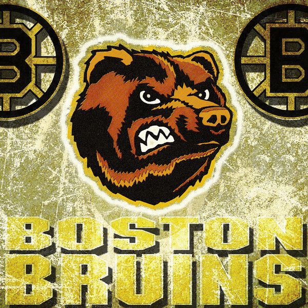 Boston Bruins NHL Hockey Poster