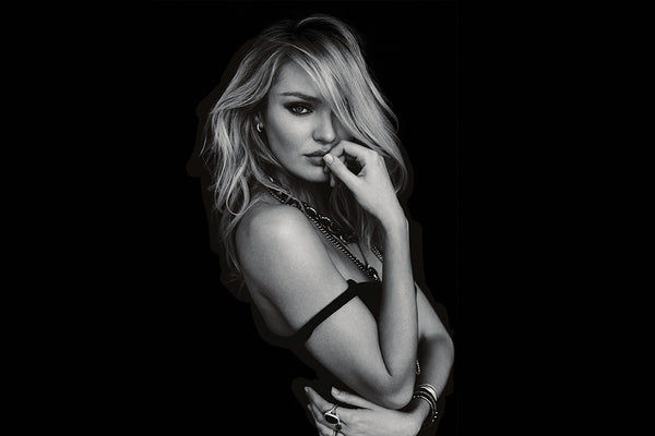 Candice Swanepol Monochrome Poster