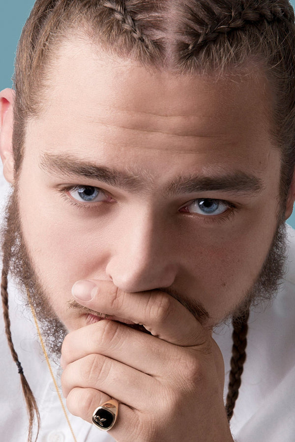 Post Malone Face Fan Poster