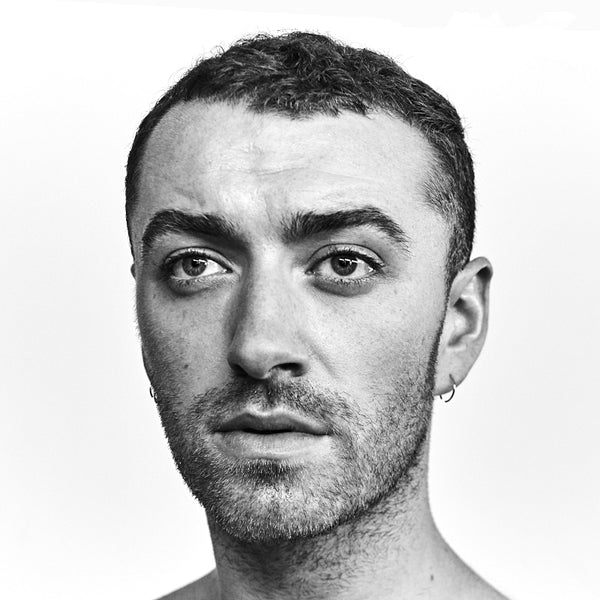 Sam Smith Face Monochrome Poster
