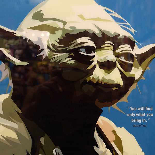 Yoda Master Quote Star Wars Poster