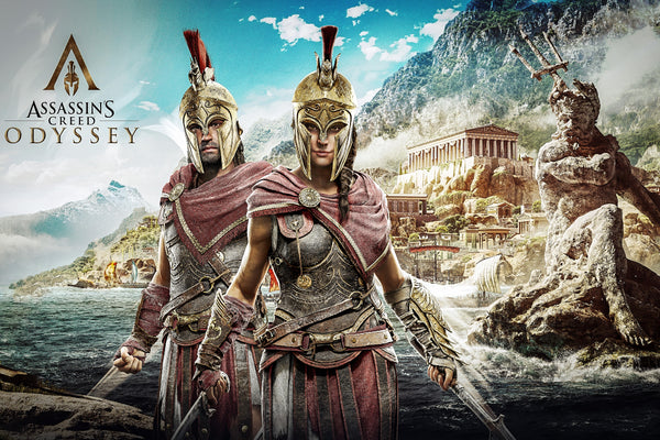 Alexios And Kassandra Assassins Creed Odyssey Poster