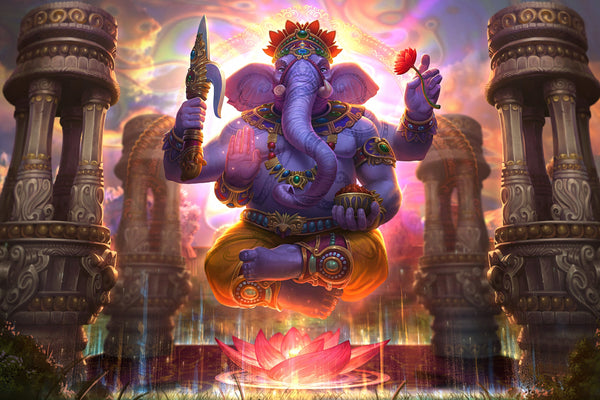 Lord Ganesha Ganpati Bappa Ganapati Indian God Poster