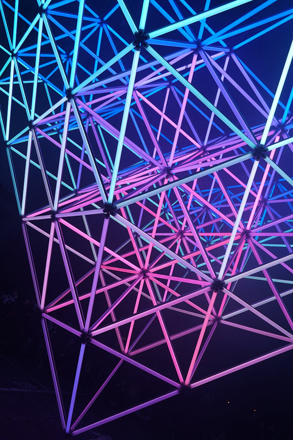 Structure Triangles Neon Amoled Poster