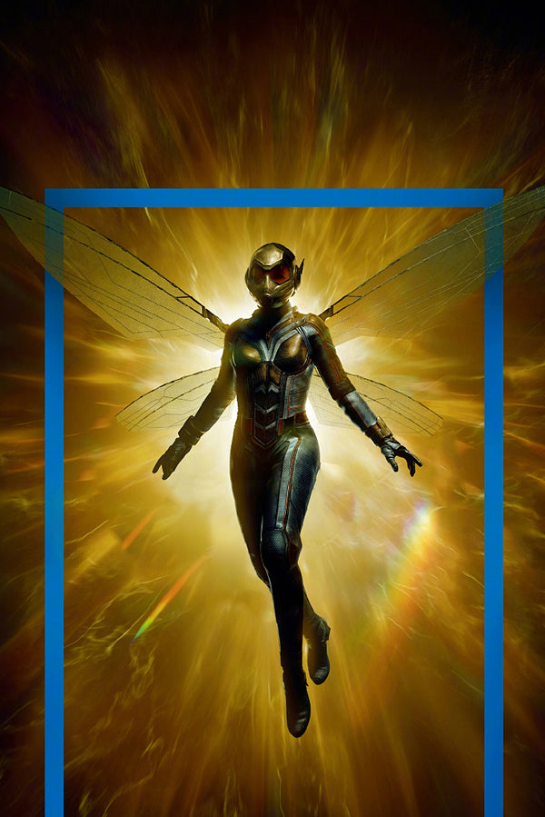 Wasp Superheroine Marvel Comics Poster