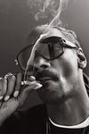 Snoop Dogg Smoke Black White Poster