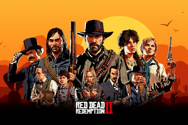 Red Dead Redemption 2 Game Characters Poster