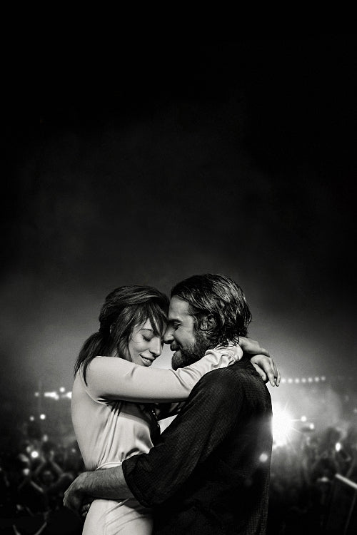 A Star is Born Black White Poster