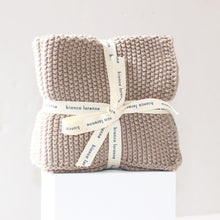 Set Of 3 Taupe Cotton Wash Cloths