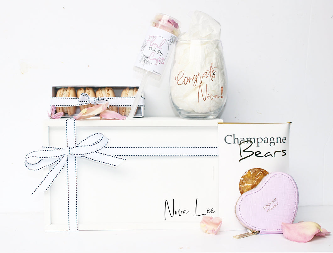 congratulations-celebration-gifts-for-her-personalised-gift-hamper-box-bloom-berry