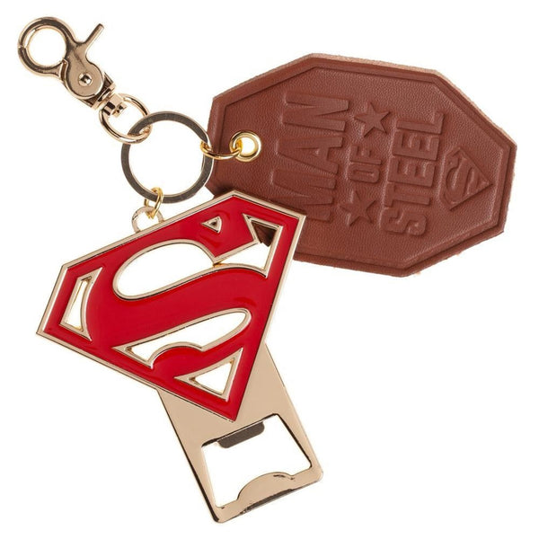 Superman Bottle Opener & Leather Key Ring