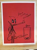 Deadpool Ghostbusters Giclee Exclusive Print by Justin Harder