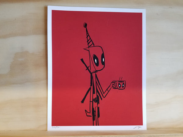 Deadpool Perky Nerd Exclusive Giclee Print by Justin Harder