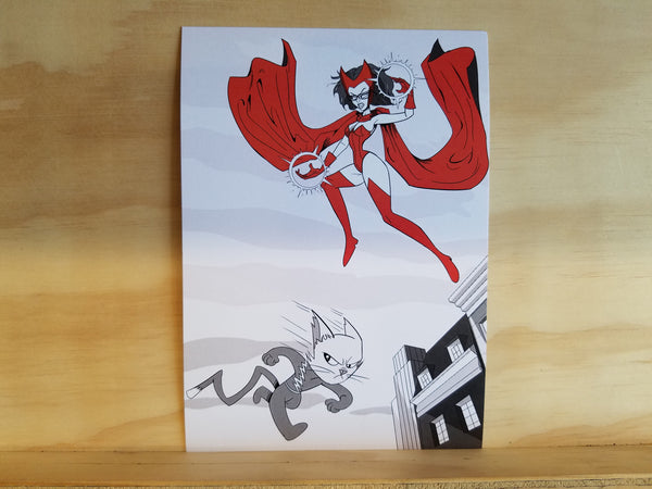 Perky Scarlet Witch 5x7 Single Print