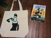 Perky Nerd Black Cat Combo - Custom Black Cat tote & Trade