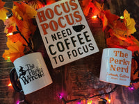 Perky Witch Bundle - HOCUS POCUS Sign & MUG