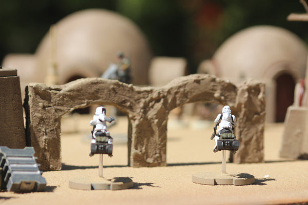 Toshe Station : Star Wars Legion Scatter Terrain : Double-Arch STL (DIGITAL FILE)