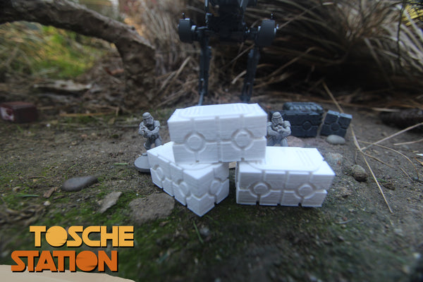 Toshe Station : Star Wars Legion Scatter Terrain : 3 Double-Boxes