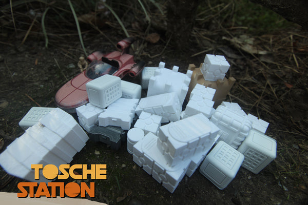Star Wars Legion Terrain - Tosche Station Scatter Terrain - Large Assorted Crate Package
