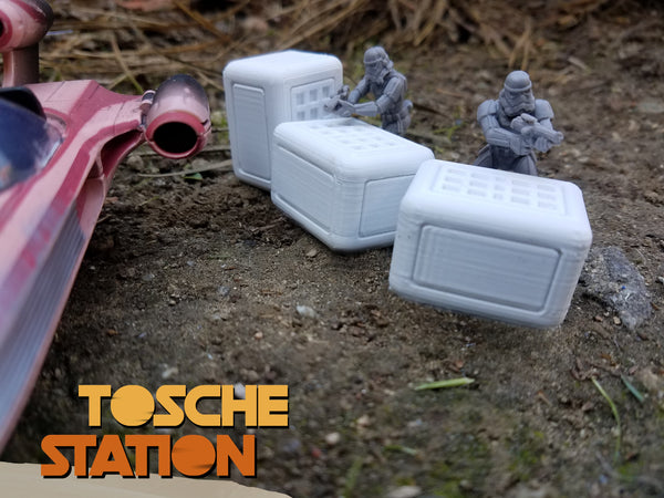 Toshe Station : Star Wars Legion Scatter Terrain : 3 Rectangle Crates