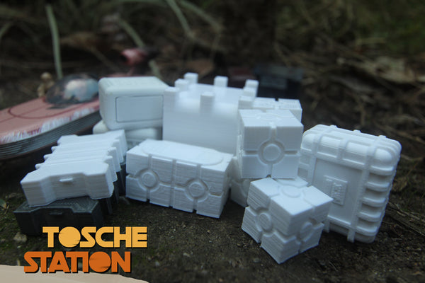 Toshe Station : Star Wars Legion Scatter Terrain : Small Assorted Crate Package