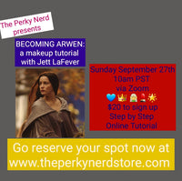 Becoming Arwen: a Makeup Tutorial with Jett LaFever September 27th