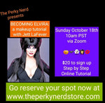 Becoming Elvira: a Makeup Tutorial with Jett LaFever October 18th