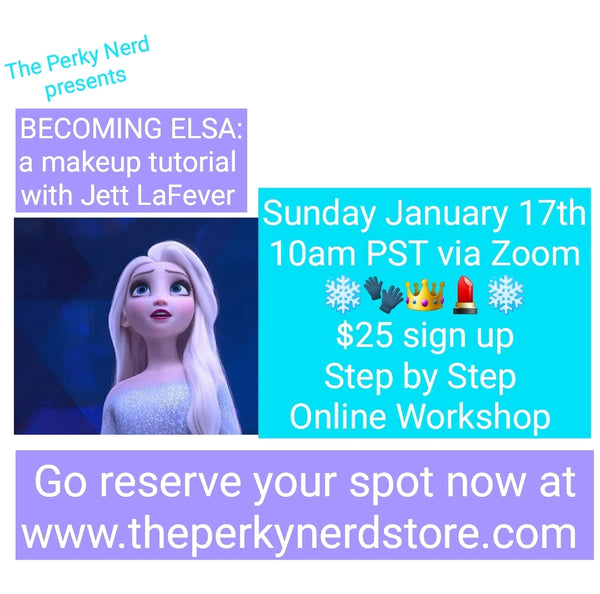 Becoming Elsa: a Makeup Tutorial with Jett LaFever Jan. 17th