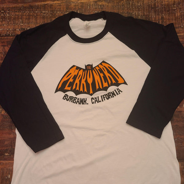 The Perky Nerd Halloween Bat Raglan (TPN Baseball Style Shirt)