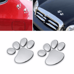 3D Pawprint Car Decal