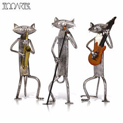 Cool Cats Metal Sculpture